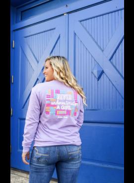 Jadelynn Brooke Never Underestimate A Girl (Lavender) - L/S / Crew