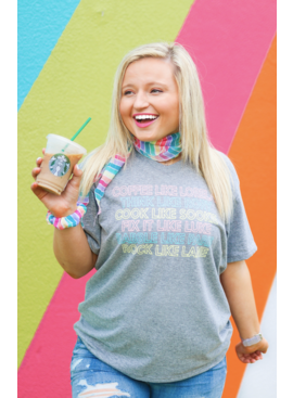Jadelynn Brooke Coffee Like Lorelai (Dark Grey Heather) - S/S / V-Neck