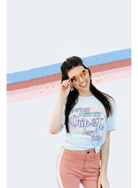 Things She Loves Chip Loves Jo (Prism Ice Blue Heather) - S/S