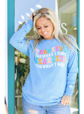 Jadelynn Brooke Thankful For What I Have (Dynamic Blue Heather) - L/S