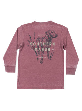 Southern Marsh Youth Seawash Tee - LS - Dog