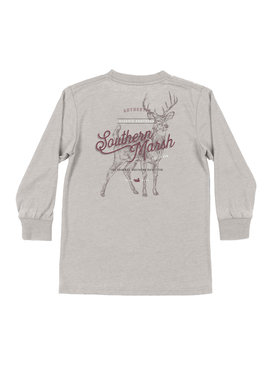 Southern Marsh Youth Seawash Tee - LS - Deer