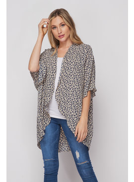 Honeyme Cheetah Print Cardigan