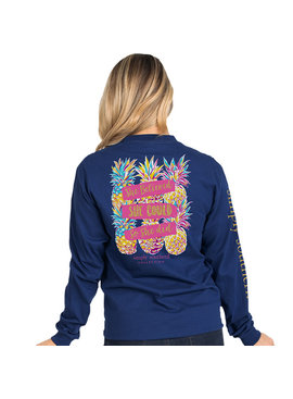 Simply Southern Collection She Could Long Sleeve T-Shirt -Midnight