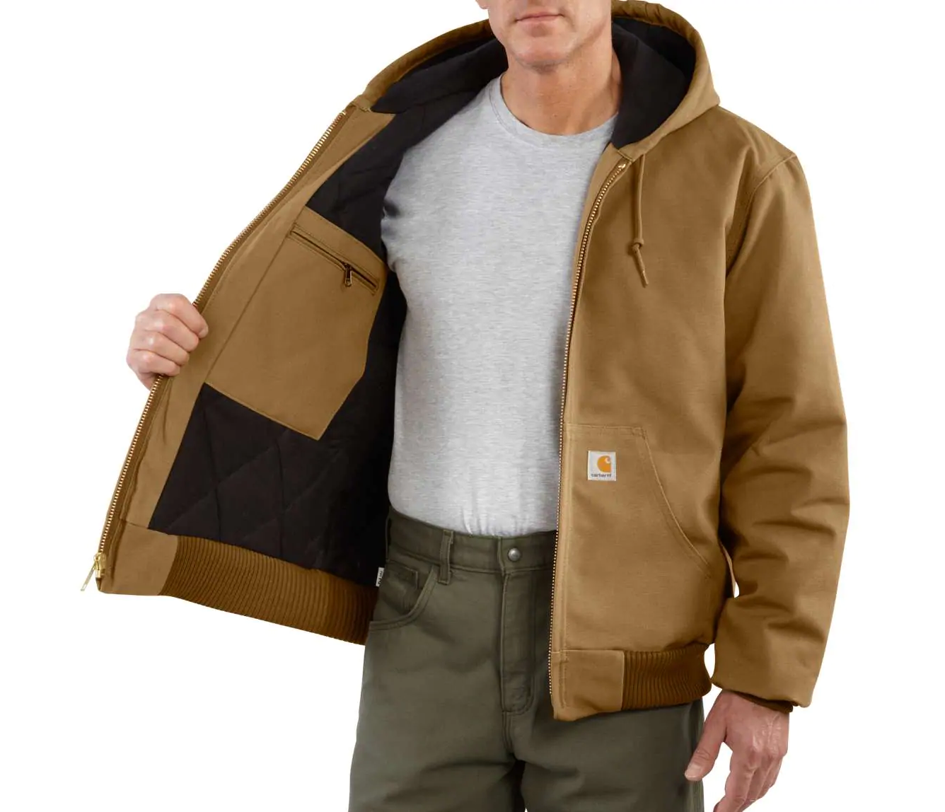Carhartt Duck Quilted Flannel-Lined Active Jac - Tall