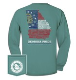 Ga Letterpress Flag Long Sleeve