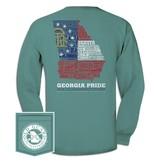 Ga Letterpress Flag Long Sleeve