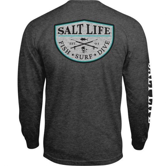 Salt Life Spearfish Badge Long Sleeve Pocket Tee