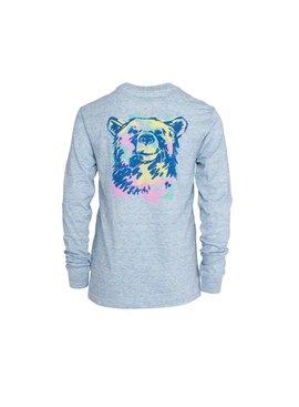 Southern Shirt Girl's Watercolor Bear Tee LS