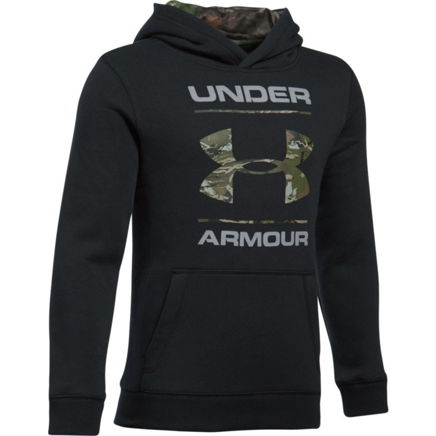 Under Armour UA Boys' Real Tree Fill Logo Hoodie