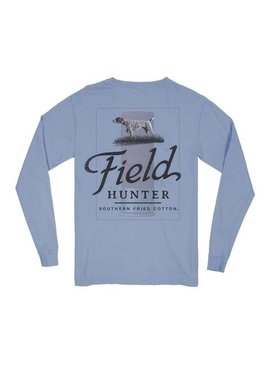 Southern Fried Cotton Take Point - LS Tee -  Faded Jeans