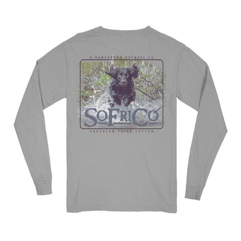 Southern Fried Cotton Boykin Staniel - LS Tee - Chicken Wire
