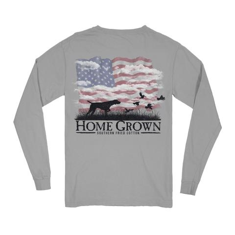 Southern Fried Cotton Point The Way - LS Tee -  Chicken Wire