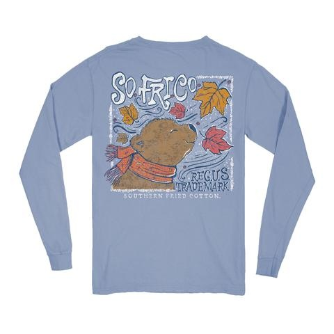 Southern Fried Cotton Fall Breeze - LS Tee -  Faded Jeans