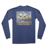 Southern Fried Cotton Duck Hunt LS Tee - Summer Shadow