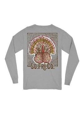 Southern Fried Cotton Wild Tom LS Tee -Chicken Wire