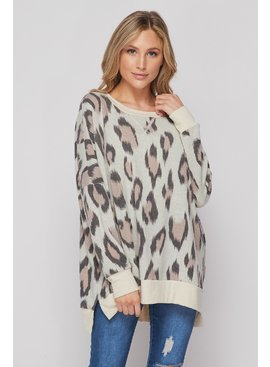 Honeyme Animal Print Sweatshirt