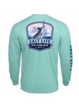 Salt Life Salt Life Blue Storm Brew Pocket T-Shirt