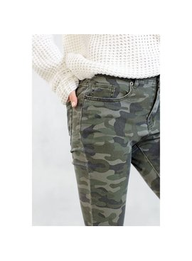 Mud Pie Rory Green Camo Jeans