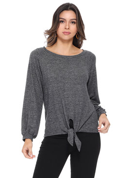 Aryeh Katie Front Tie Knit Top
