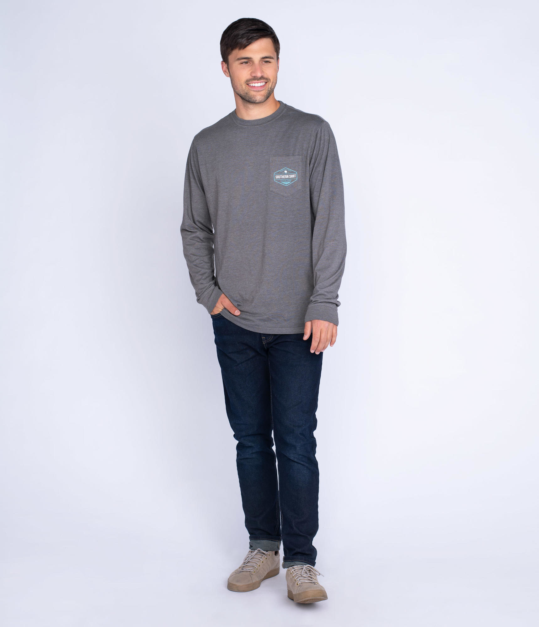 Southern Shirt Tri Color Trout Tee LS