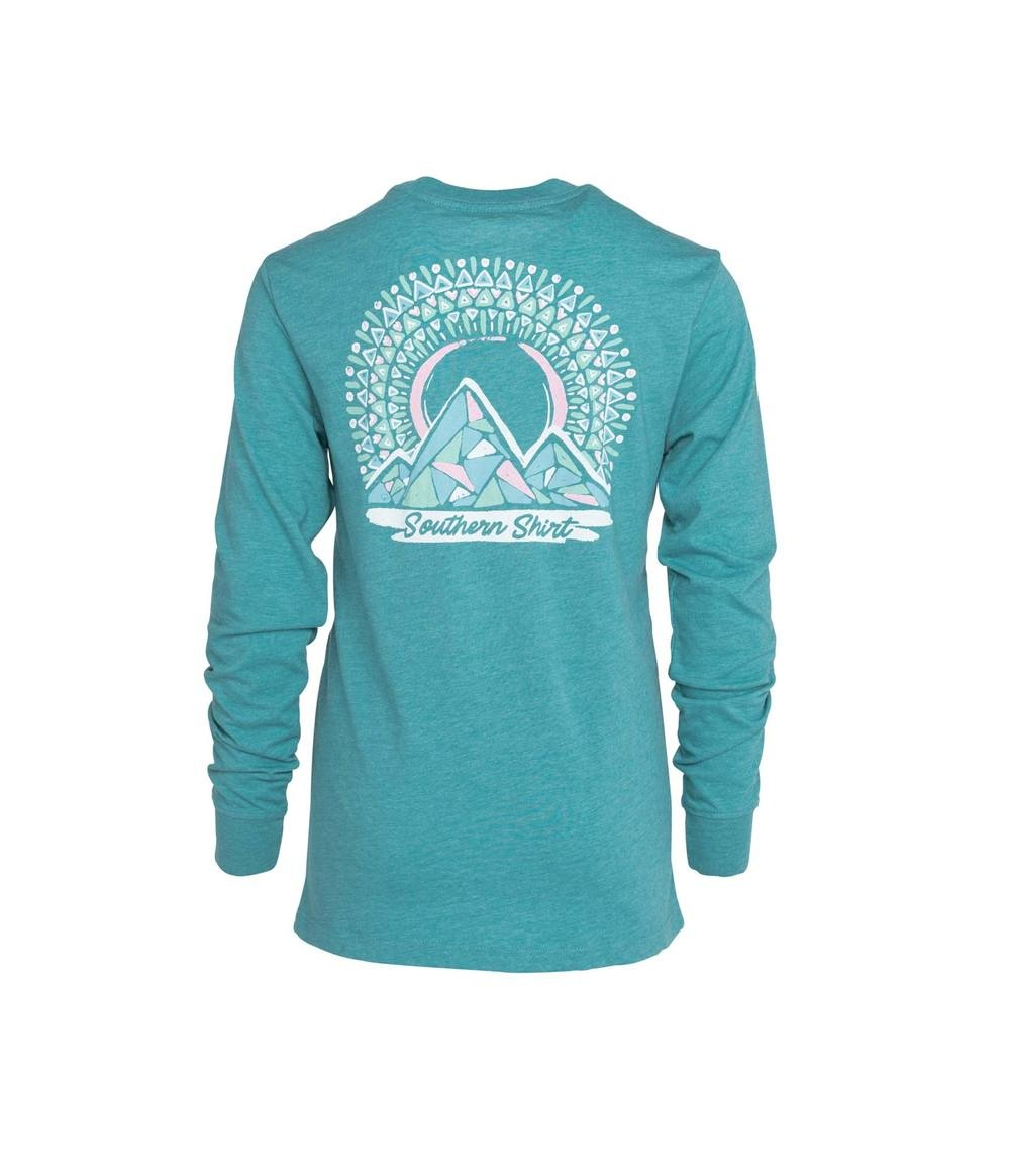 Southern Shirt Girl's Mosaic Moutains Tee LS