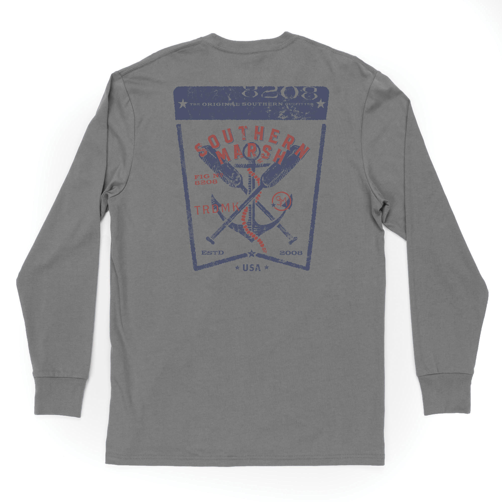 Southern Marsh Vintage Tag Anchor Tee -  Long Sleeve
