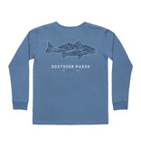 Southern Marsh Youth Delta Fish Tee - Long Sleeve
