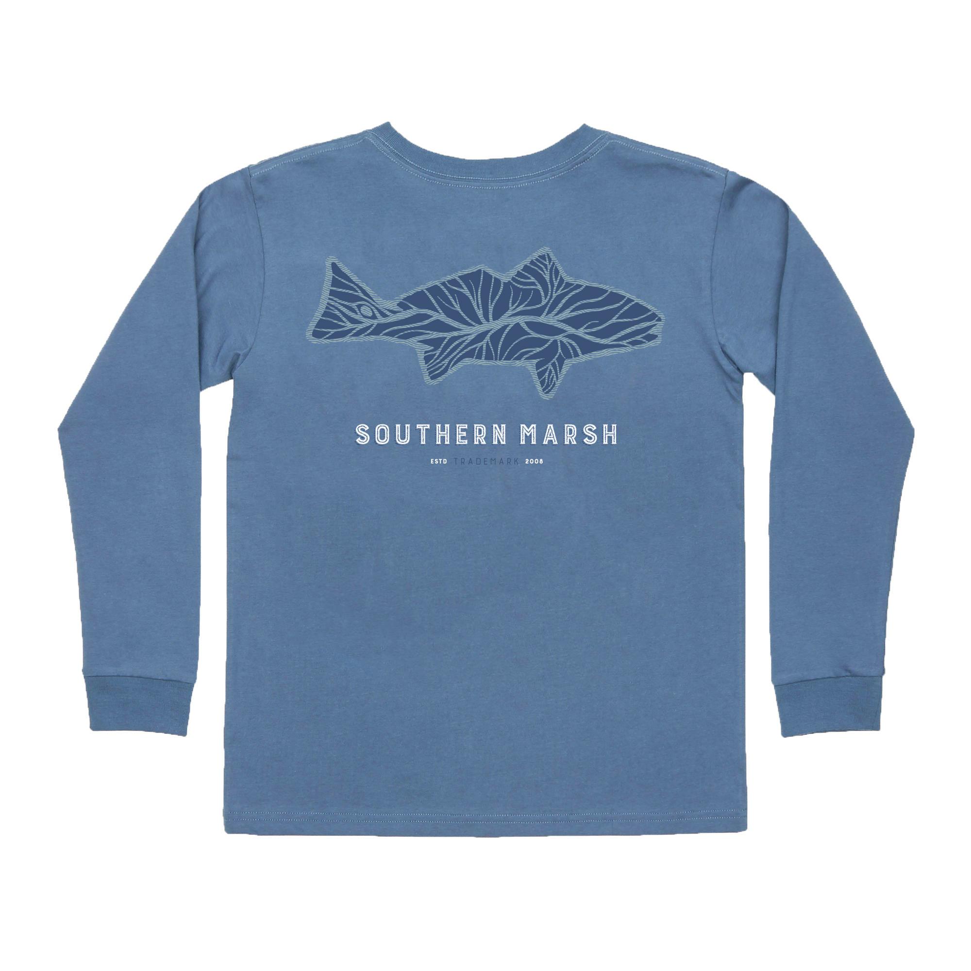 Southern Marsh Youth Delta Fish Tee - Long Sleeve