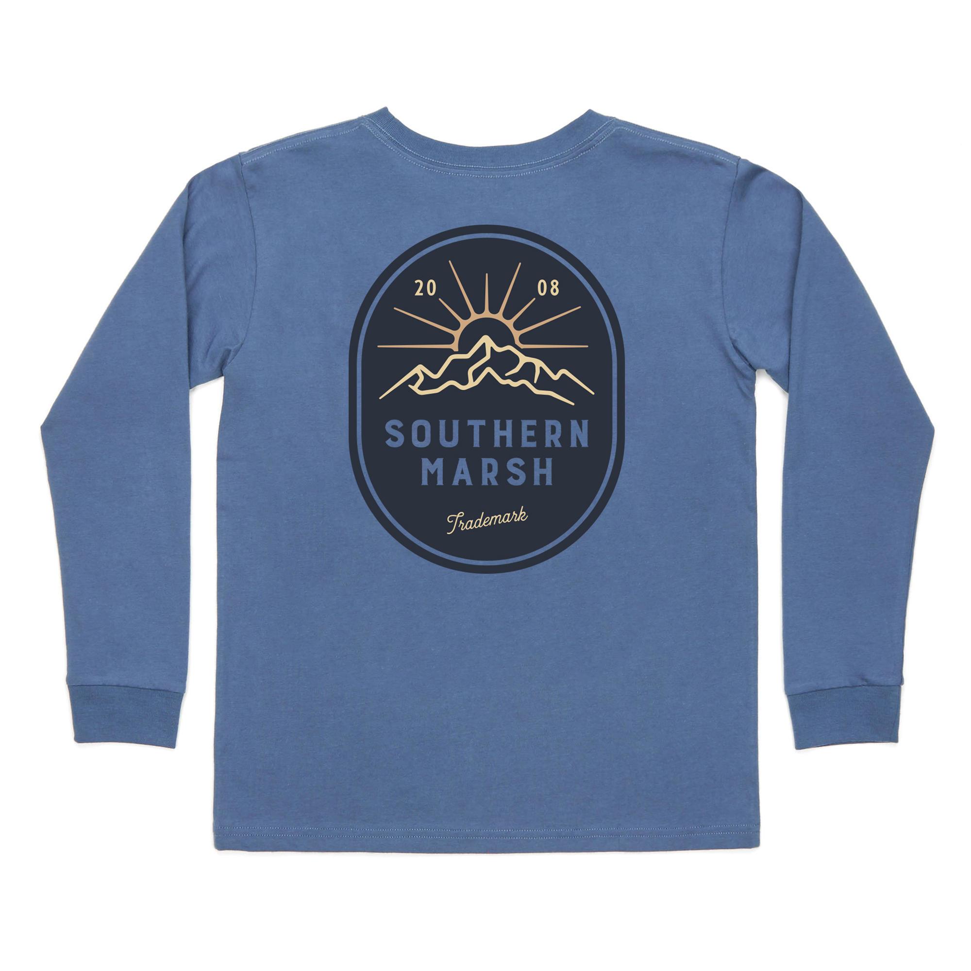 Southern Marsh Youth Branding Mountain Rise Tee - Long Sleeve