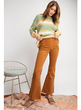 BELL BOTTOM STRETCH CORDUROY PANTS