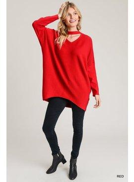 Jodifl Solid Mock-Neck Sweater Top
