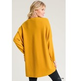 Jodifl Solid Mock-Neck Sweater Top