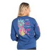 Simply Southern Collection STAND TALL & FIND A CURE LONG SLEEVE T-SHIRT