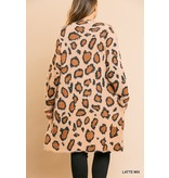 Umgee Animal Print Sweater Cardigan