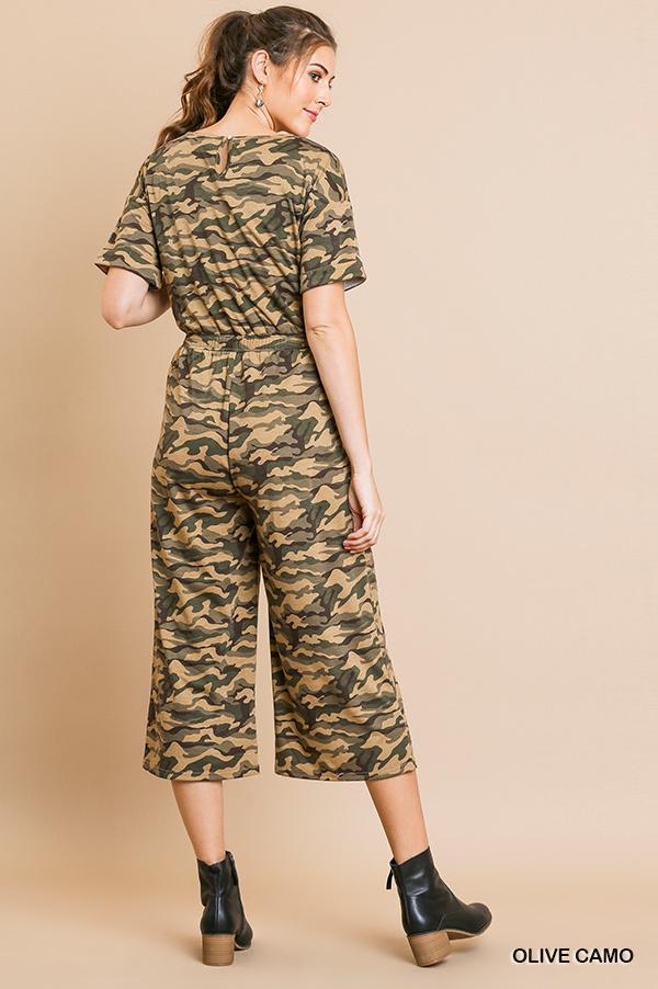 Umgee Camo Print Jumpsuit