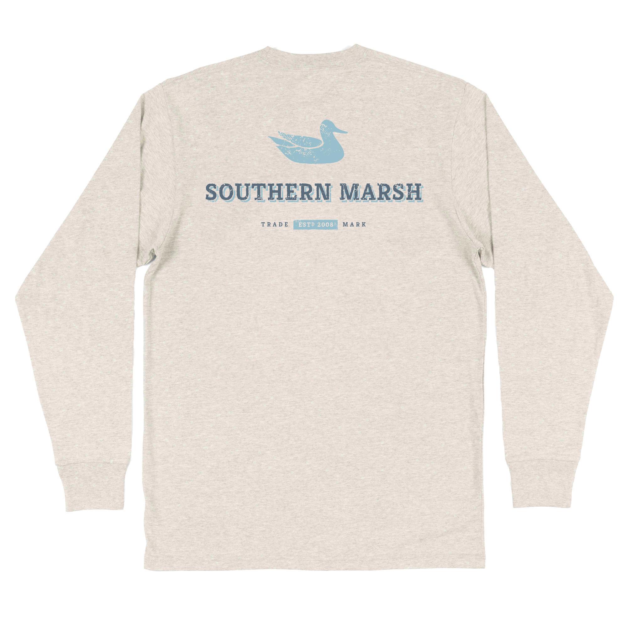 Southern Marsh Trademark Duck Tee - Long Sleeve