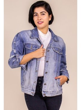 Before You Collection Boyfriend Fit Denim Jacket