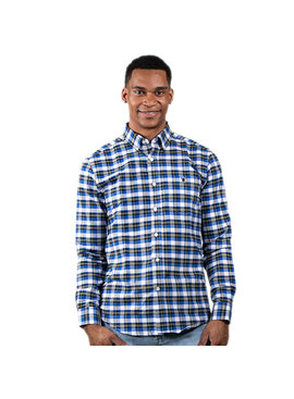 Simply Southern Collection Men's Blue Parker Flannel Shirt