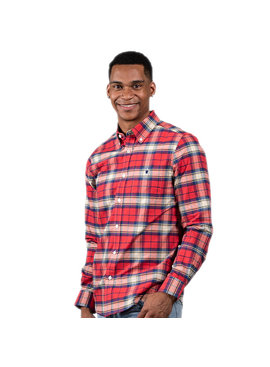 Simply Southern Collection Men's Red Parker Flannel Shirt