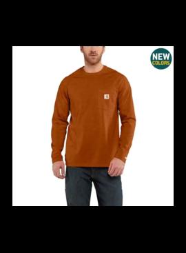 Carhartt Big - Carhartt Force® Cotton Delmont Long-Sleeve T-Shirt