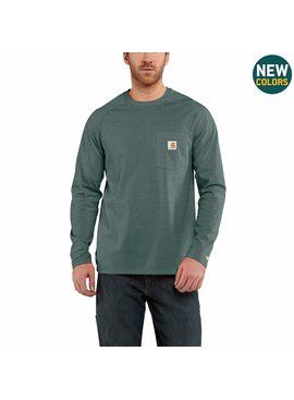 Carhartt Tall - Carhartt Force® Cotton Delmont Long-Sleeve T-Shirt
