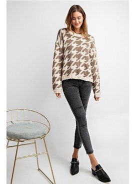 Patterned Knitted Sweter