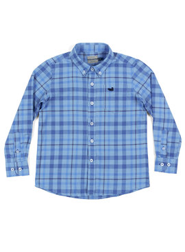 Southern Marsh Youth Boundary Washed Plaid Shirt