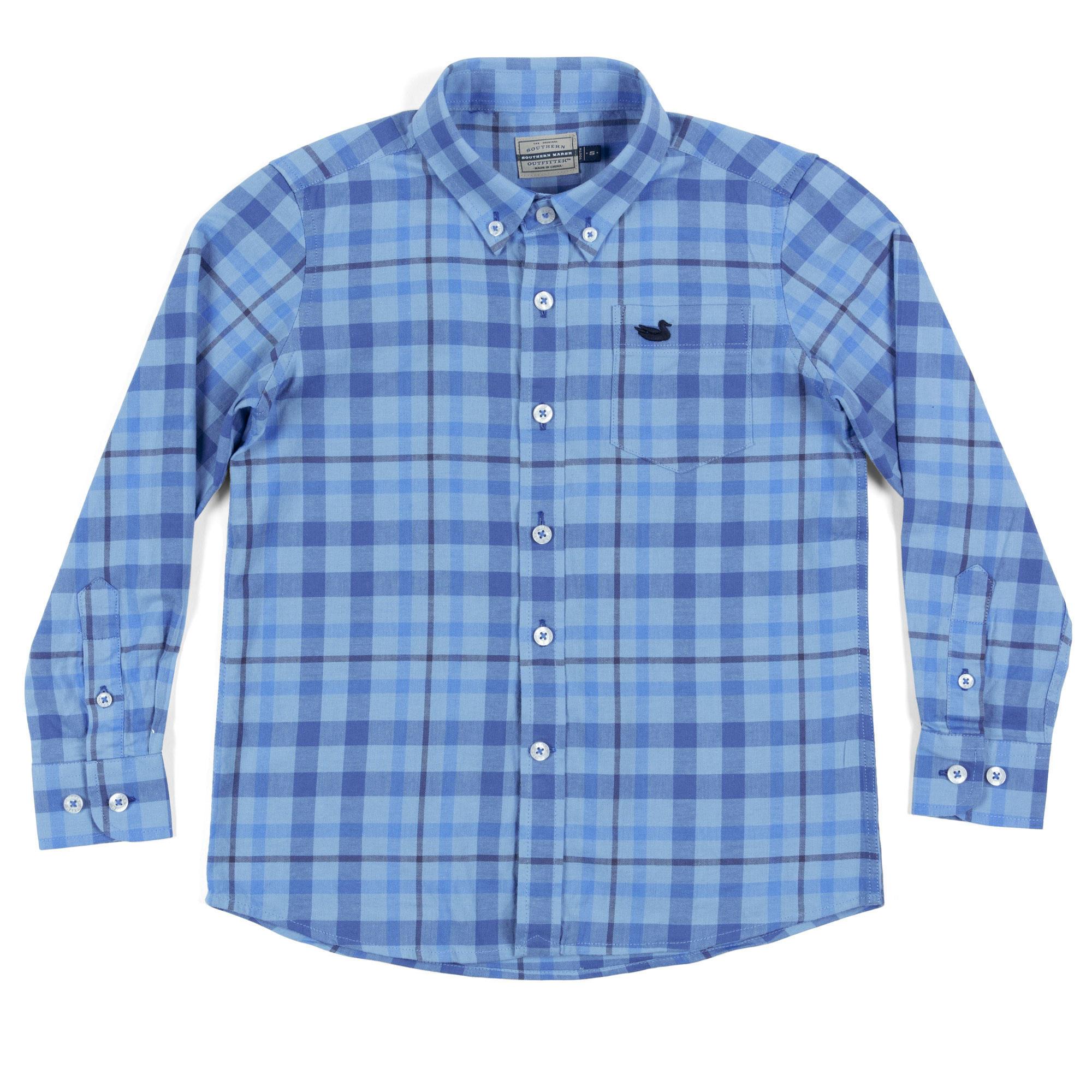 Southern Marsh Youth Boundary Washed Plaid Shirt
