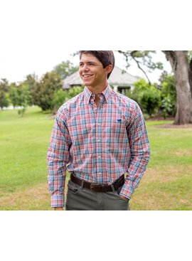 Southern Marsh Southern Marsh Juban Check Dress Shirt - Wrinkle-Free