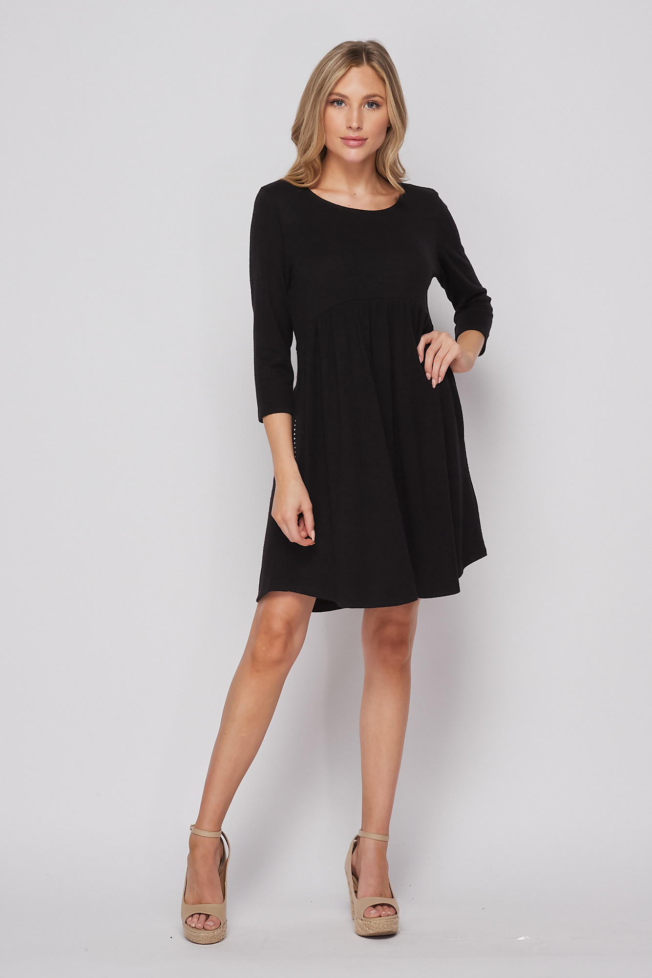 Honeyme Solid Dress With Pockets