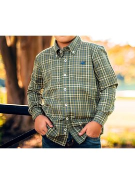Southern Marsh Youth King Windowpane Dress Shirt