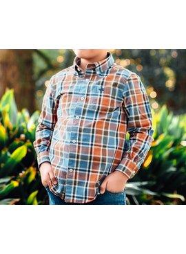 Southern Marsh Youth Ocoee Washed Plaid Shirt