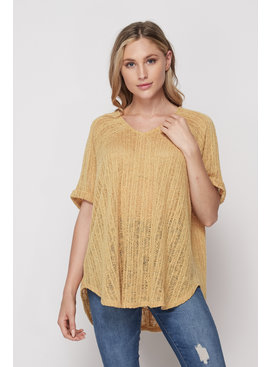 Honeyme Loose Hacci Rib Top